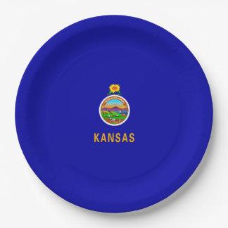 Kansas State Flag Design Paper Plate