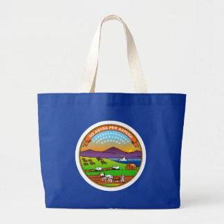 Kansas State Flag Jumbo Tote Bag