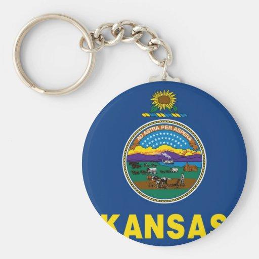 Kansas State Flag Key Chain