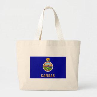 Kansas State Flag Large Tote Bag