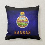 Kansas state flag pillows
