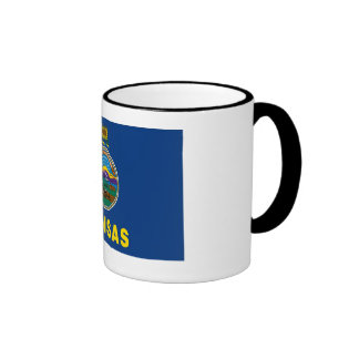 Kansas State Flag Ringer Mug