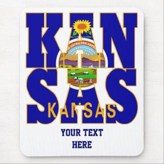 Kansas state flag text mouse pad