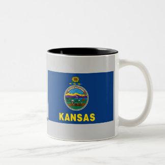 Kansas State Flag Two-Tone Coffee Mug