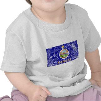 Kansas State Flag Vintage T Shirts