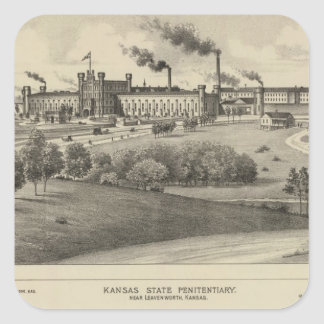 Kansas State Penitentiary Square Sticker