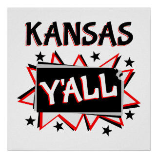 Kansas State Pride Y'all Poster
