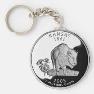 Kansas State Quarter Key Chains