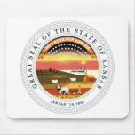 Kansas State Seal and Motto Mouse Pad