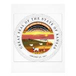 Kansas State Seal Custom Letterhead