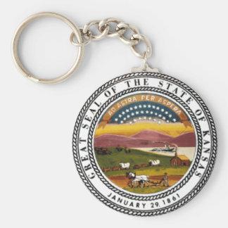 Kansas State Seal Key Chain