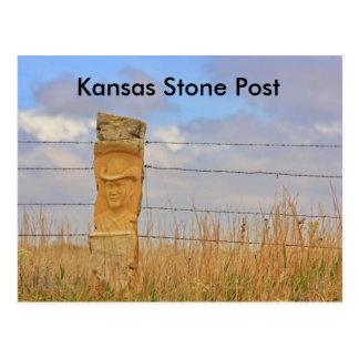 Kansas Stone Post POST CARD