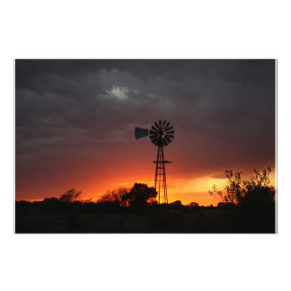 Kansas Stormy Country Night Photo Enlargement