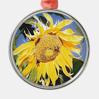 Kansas Sunflower Metal Ornament
