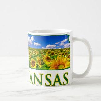 Kansas Sunflower Sky Classic White Coffee Mug
