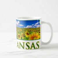 Kansas Sunflower Sky Coffee Mug