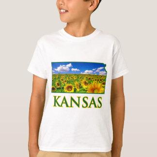 Kansas Sunflower Sky T-Shirt
