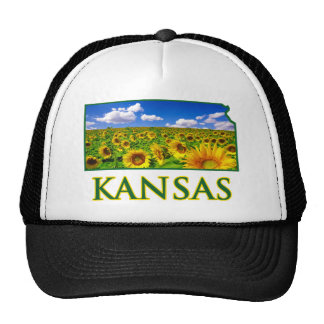 Kansas Sunflower Sky Trucker Hat