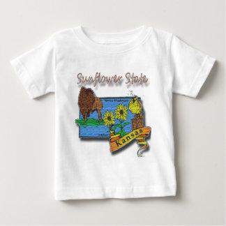 Kansas Sunflower State  Lark Sunflower Buffalo Baby T-Shirt