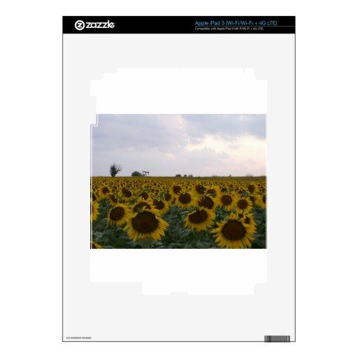 Kansas Sunflowers & Oil Rig iPad 3 Skins