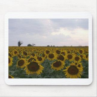Kansas Sunflowers & Oil Rig Mouse Pad
