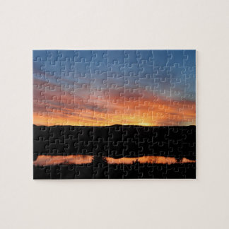 Kansas Sunset at Lake Scott State Park Jigsaw Puzzle