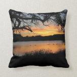 Kansas Sunset at Lake Scott State Park Pillows