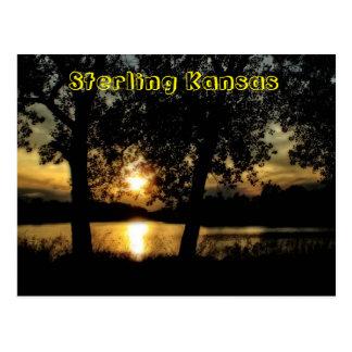 Kansas Sunset Reflection Post Card