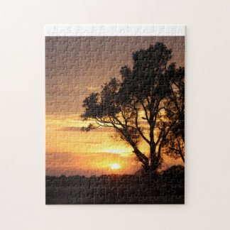 Kansas Sunset with a Tree PUZZLE