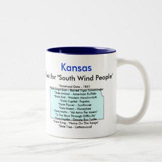 Kansas Symbols & Map Mugs