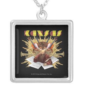KANSAS - Symphony Logo Silver Plated Necklace