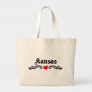 Kansas Tattoo Tote Bag
