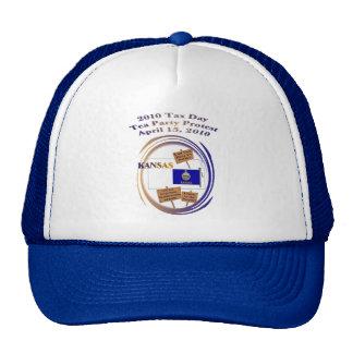 Kansas Tax Day Tea Party Protest Baseball Cap Mesh Hats