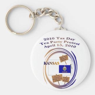 Kansas Tax Day Tea Party Protest Key Ring