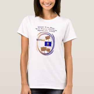 Kansas Tax Day Tea Party Protest T-Shirt