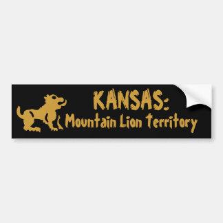 Kansas: Territorio del león de montaña Pegatina Para Auto