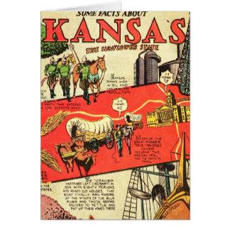 Kansas the Sunflower State Card