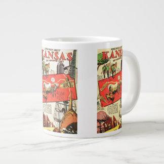 Kansas the Sunflower State Large Coffee Mug