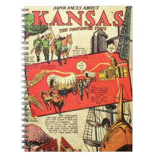 Kansas the Sunflower State Spiral Notebook