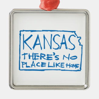 Kansas - There's No Place Like Home Metal Ornament