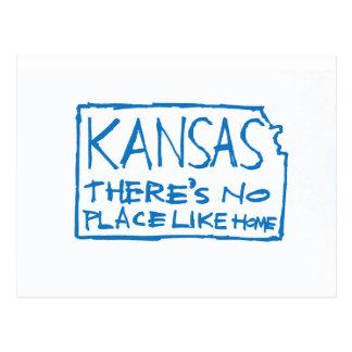 Kansas - There's No Place Like Home Postcard