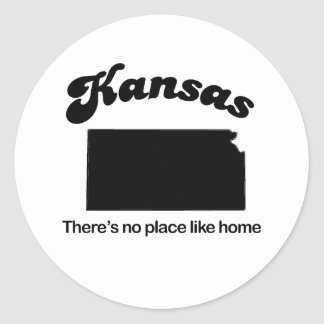 Kansas - Theres no place like home Classic Round Sticker