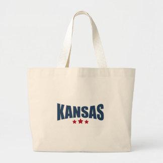 Kansas Three Stars Design Canvas Bag
