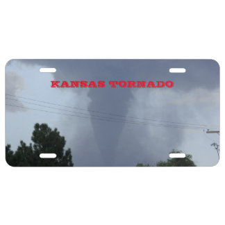 Kansas Tornado Car Tag License Plate