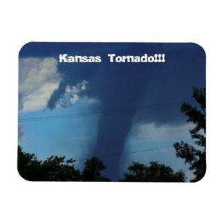 Kansas Tornado Square Magnet