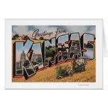 Kansas (Tractor & Hay Bailer Scene) Greeting Card