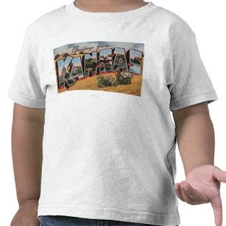 Kansas (Tractor & Hay Bailer Scene) T Shirts