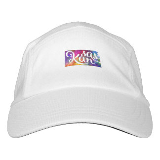 Kansas U.S. State in watercolor text cut out Headsweats Hat