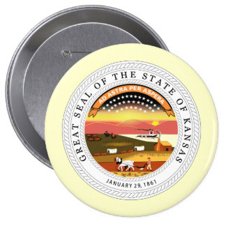 Kansas, USA Buttons