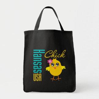 Kansas USA Chick Canvas Bags